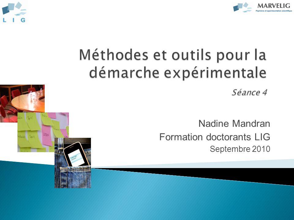 Nadine Mandran Formation doctorants LIG Septembre 2010