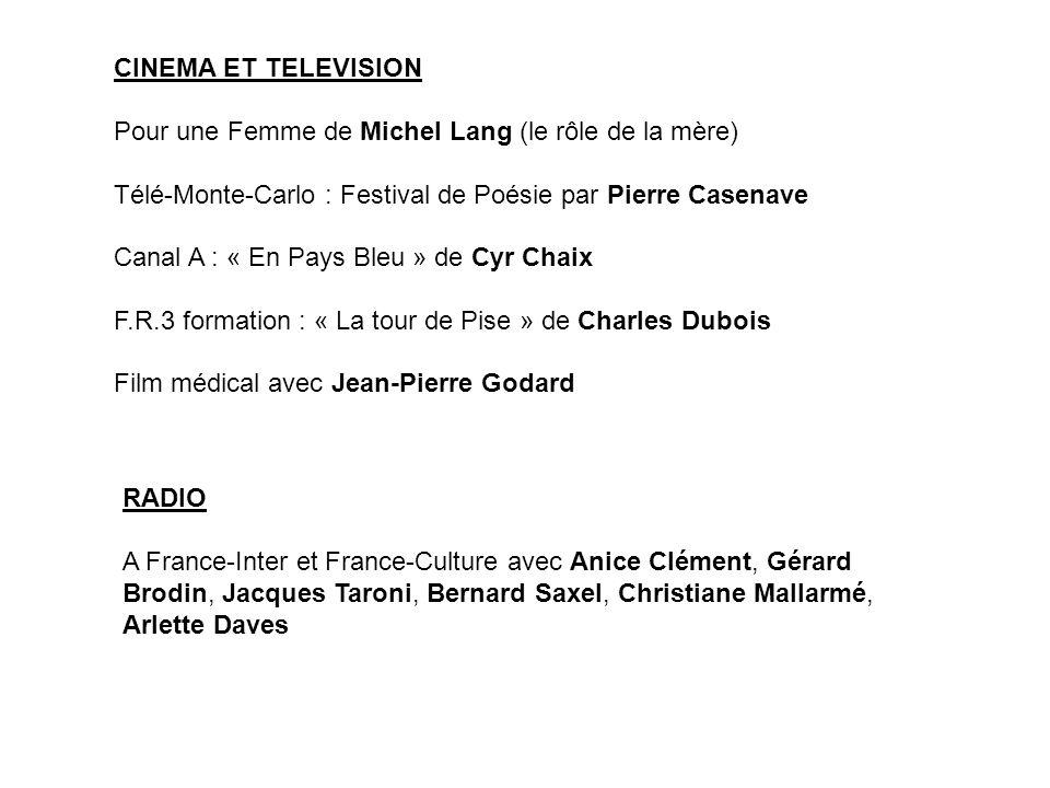 FORMATION Conservatoire National de Région de Besançon (trois premiers prix).