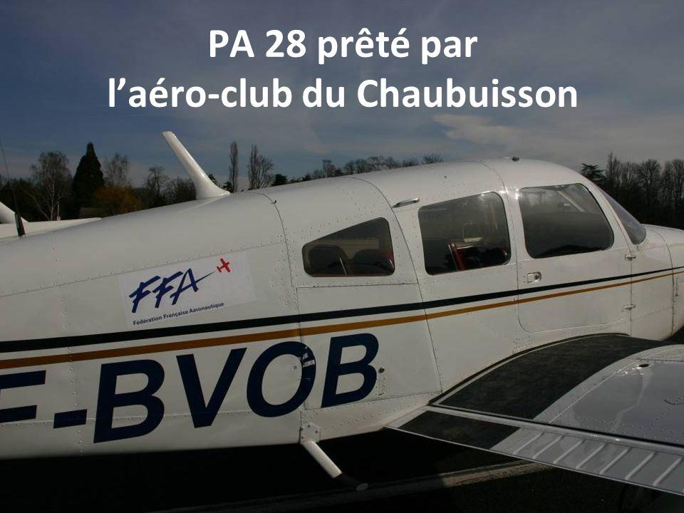PA 28 prêté par laéro-club du Chaubuisson