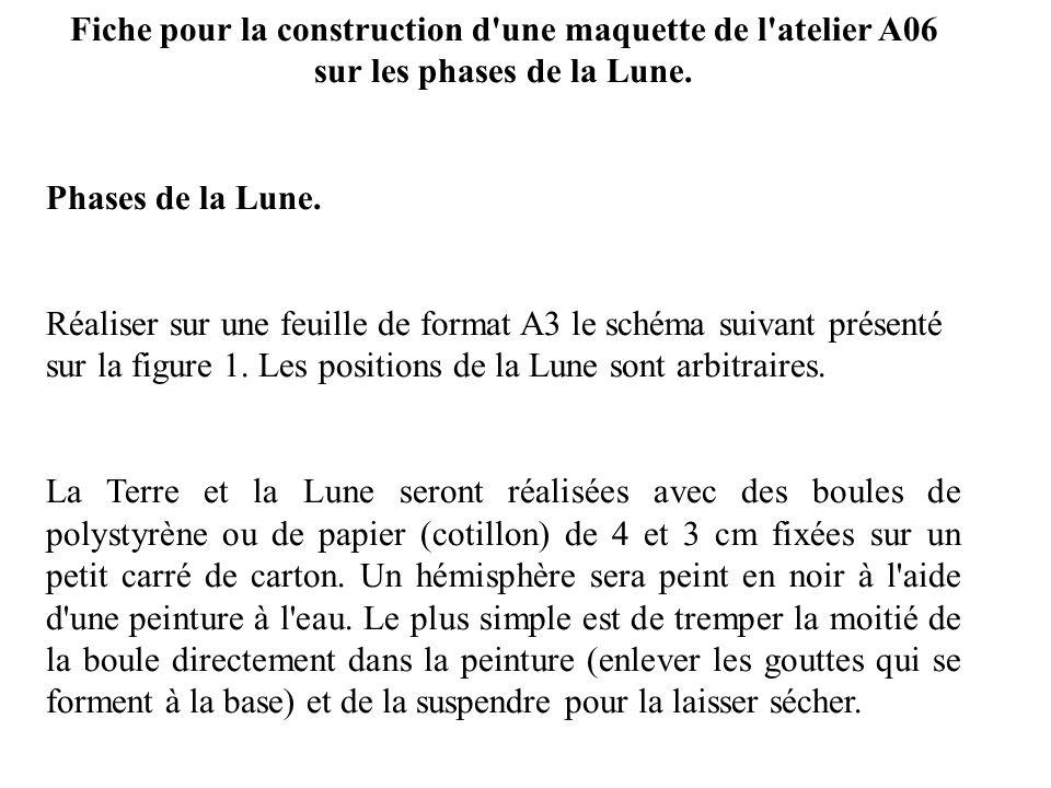 Fiche pour la construction d une maquette de l atelier A06 sur les phases de la Lune.