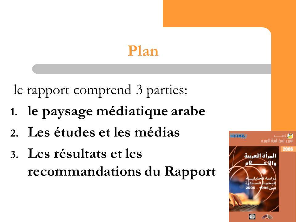 13 Plan le rapport comprend 3 parties: 1. le paysage médiatique arabe 2.
