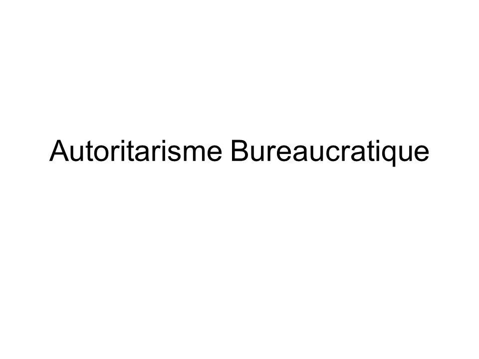 Autoritarisme Bureaucratique