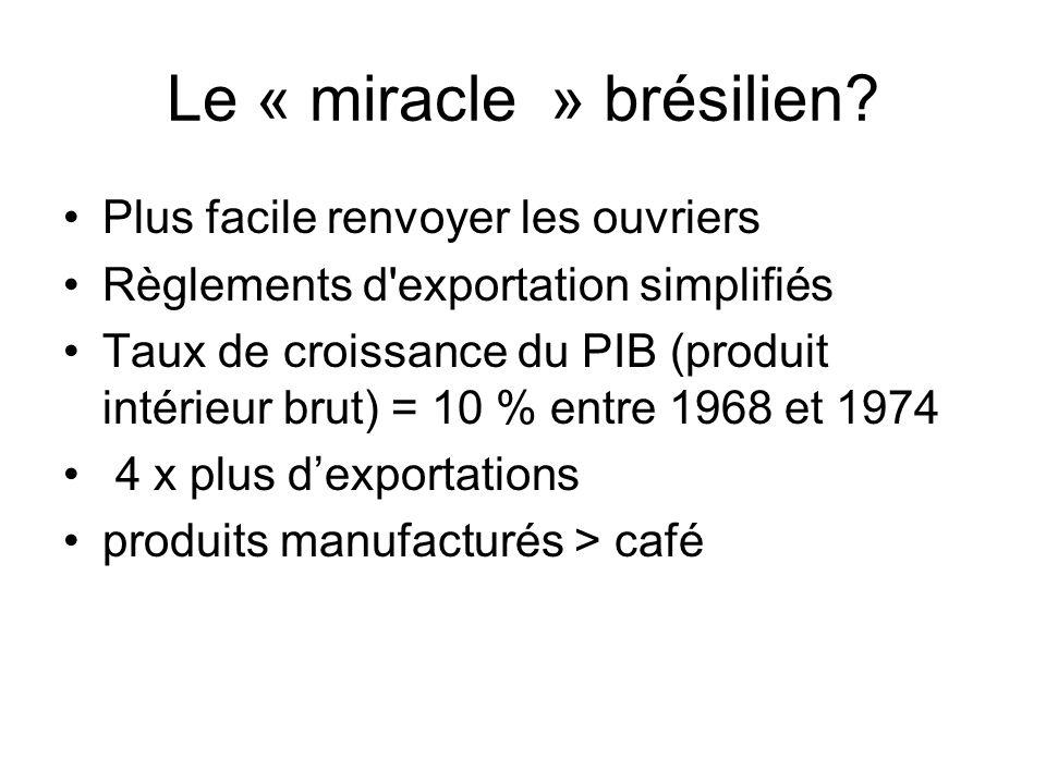 Le « miracle » brésilien.
