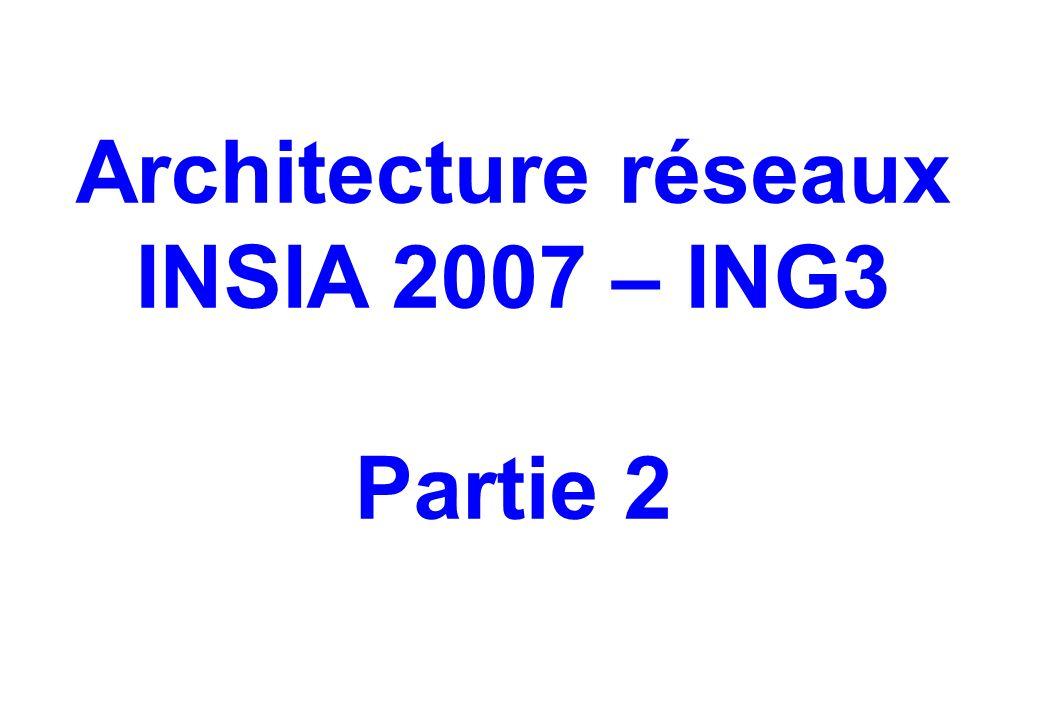 Architecture réseaux INSIA 2007 – ING3 Partie 2
