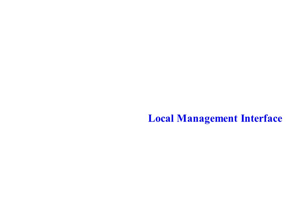 Local Management Interface