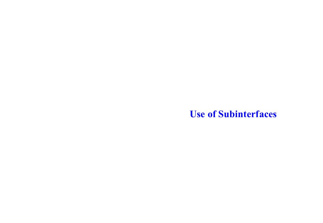 Use of Subinterfaces