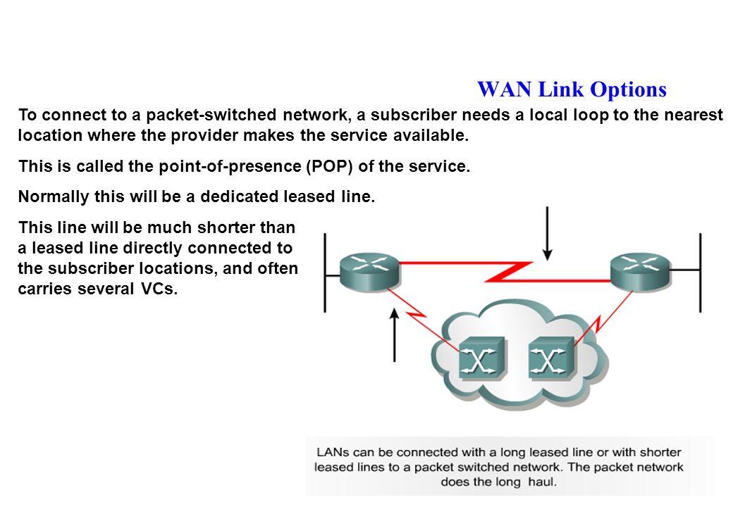 DLCI : n° identificateur de circuit fourni par lopérateur Il na quune signification locale (et non pas de bout en bout) Les switches de lopérateur gèrent les n° de DLCI de proche en proche.
