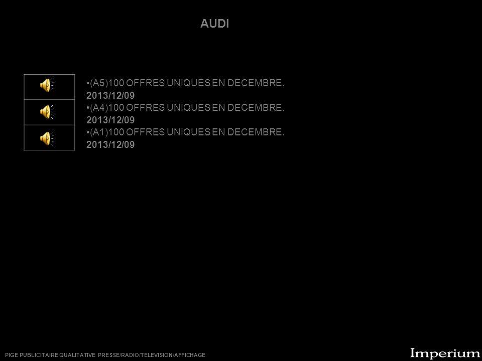 ********** (A5)100 OFFRES UNIQUES EN DECEMBRE.2013/12/09 (A4)100 OFFRES UNIQUES EN DECEMBRE.