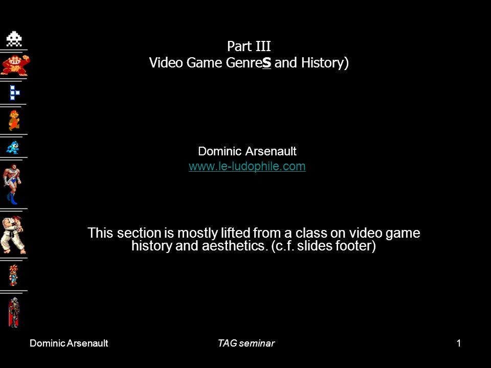 Cours 14: 16 avril 2009Histoire et esthétique du jeu vidéo Université Laval, Québec 52 Au milieu des années 1990, un changement majeur simpose dans le jeu vidéo: larrivée des graphismes en 3D.