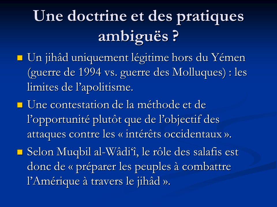 Une doctrine et des pratiques ambiguës .