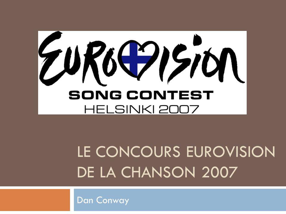 Le Concours Eurovision de la Chanson Débuté en 1956 France, Belgique, Allemagne, Italie, Luxembourg, Pays-Bas, Suisse En 2009, 42 pays participeront La France a gagné cinq fois Plus récemment en 1977 Participants célèbres: ABBA (Suède 1974) Céline Dion (Suisse 1988)