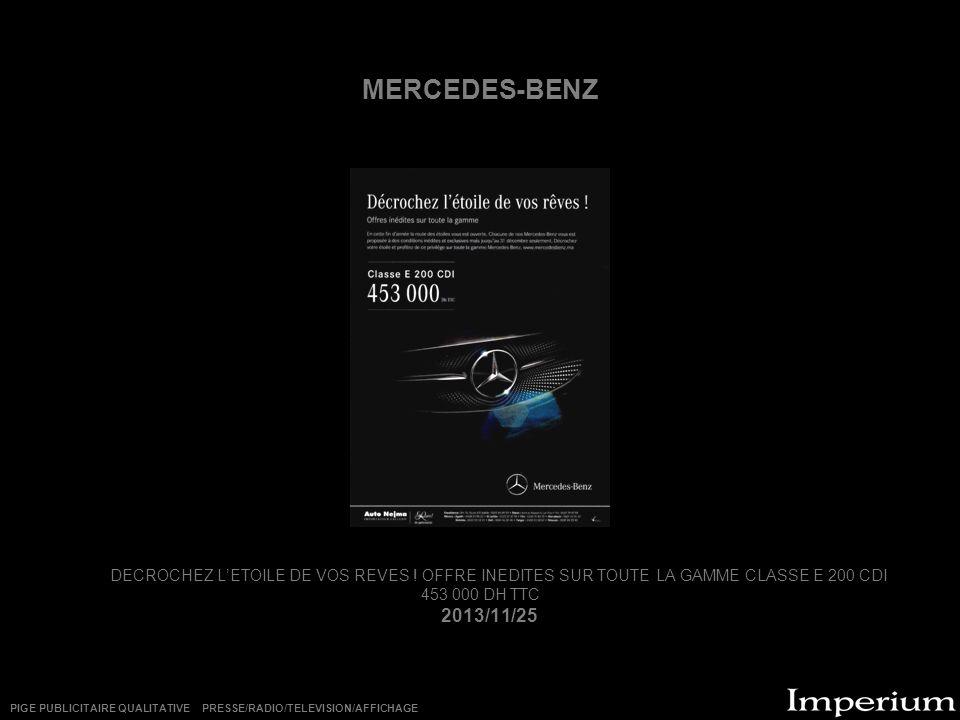 MERCEDES-BENZ DECROCHEZ LETOILE DE VOS REVES .