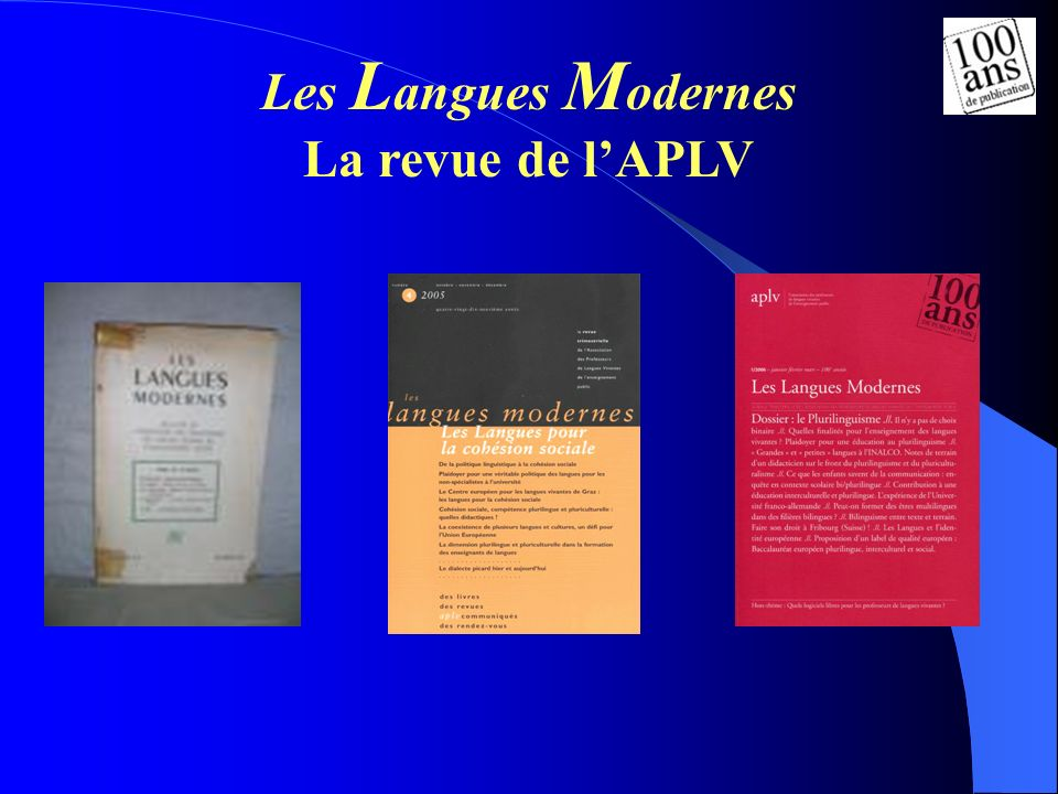 Les L angues M odernes La revue de lAPLV