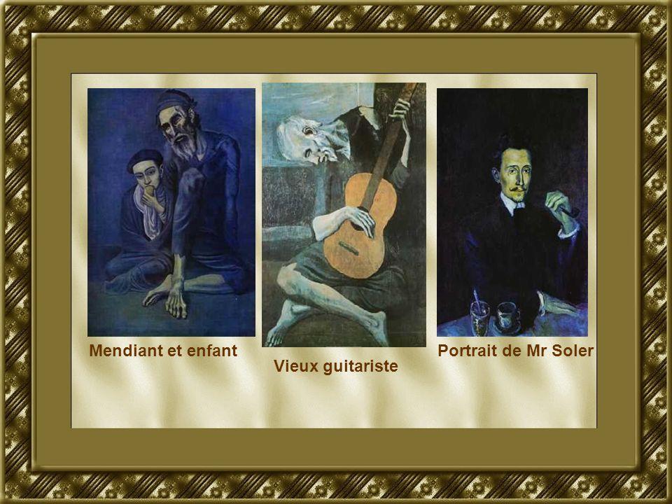 Mendiant et enfant Vieux guitariste Portrait de Mr Soler