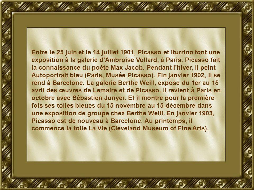 Entre le 25 juin et le 14 juillet 1901, Picasso et Iturrino font une exposition à la galerie d'Ambroise Vollard, à Paris. Picasso fait la connaissance