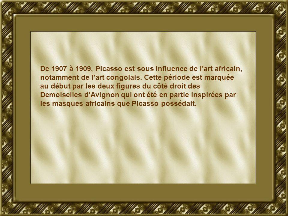 De 1907 à 1909, Picasso est sous influence de l'art africain, notamment de l'art congolais. Cette période est marquée au début par les deux figures du