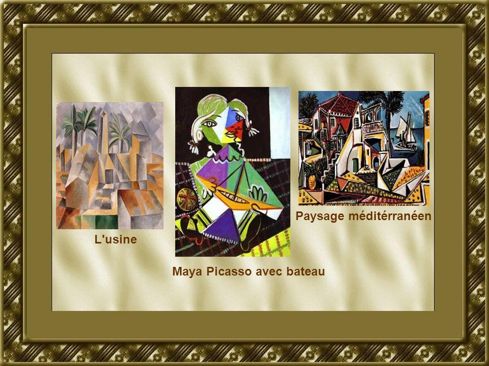 L'usine Maya Picasso avec bateau Paysage méditérranéen
