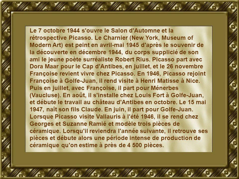 Le 7 octobre 1944 s ouvre le Salon d Automne et la rétrospective Picasso.
