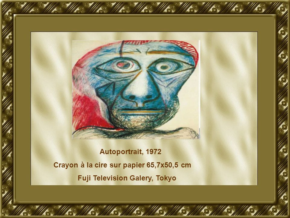 Autoportrait, 1972 Crayon à la cire sur papier 65,7x50,5 cm Fuji Television Galery, Tokyo
