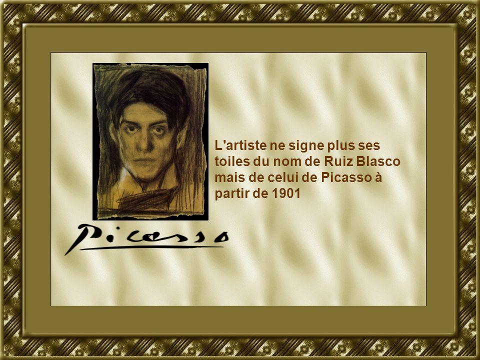 L'artiste ne signe plus ses toiles du nom de Ruiz Blasco mais de celui de Picasso à partir de 1901