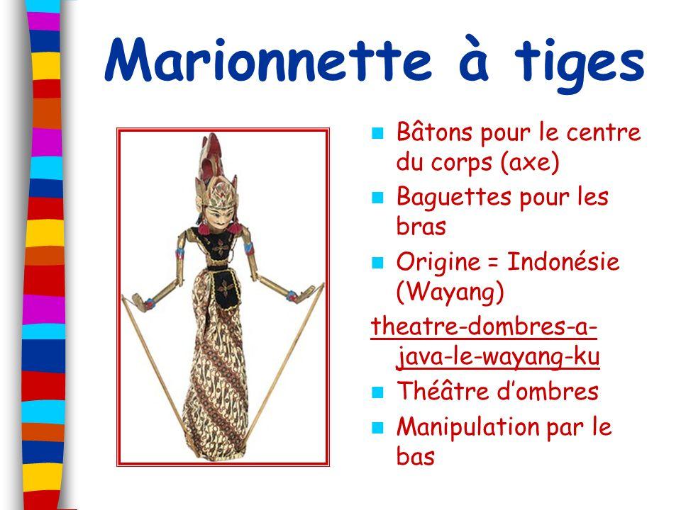 Marionnette à tiges Bâtons pour le centre du corps (axe) Baguettes pour les bras Origine = Indonésie (Wayang) theatre-dombres-a- java-le-wayang-ku Thé