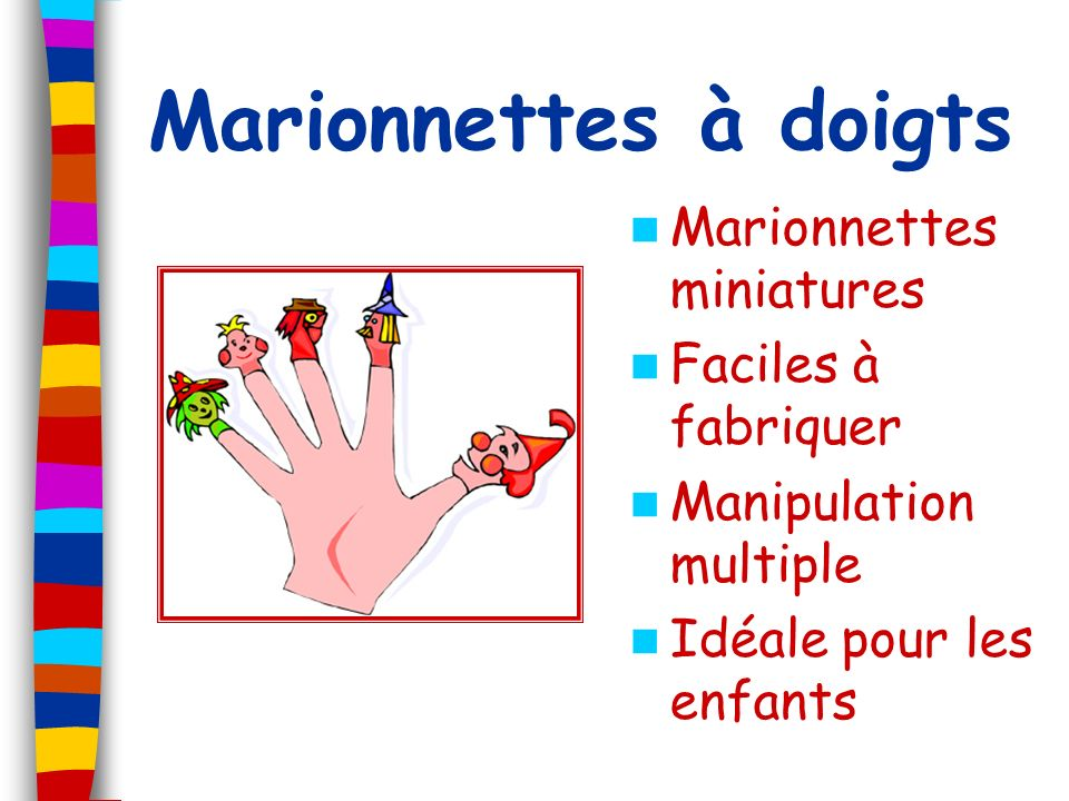 Marionnettes à doigts Marionnettes miniatures Faciles à fabriquer Manipulation multiple Idéale pour les enfants
