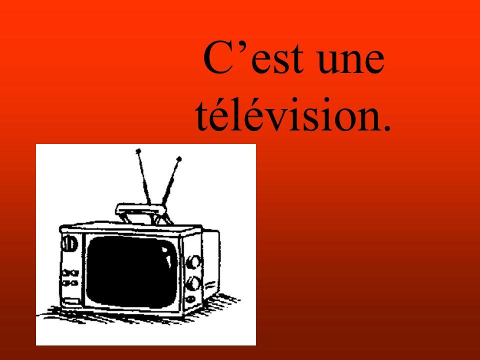 Cest une télévision.