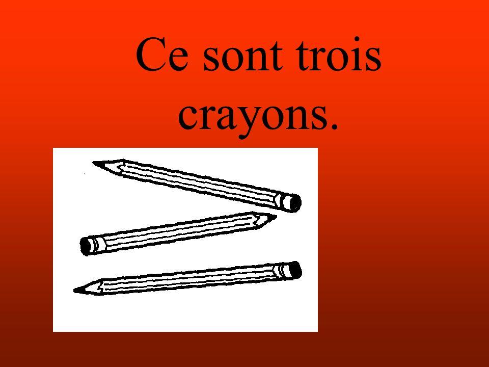 Ce sont trois crayons.