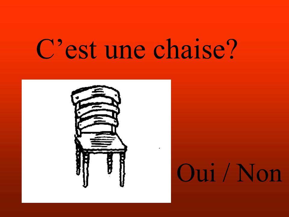 Cest une chaise Oui / Non