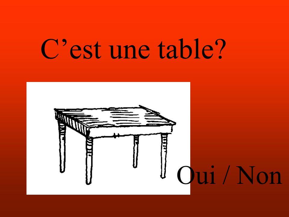 Cest une table Oui / Non