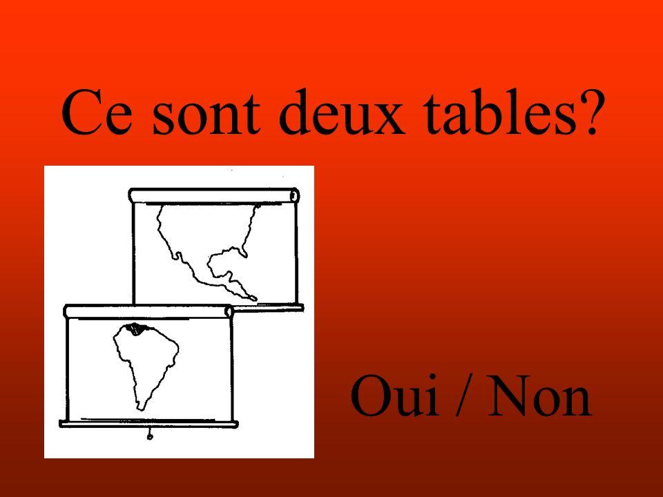 Ce sont deux tables Oui / Non