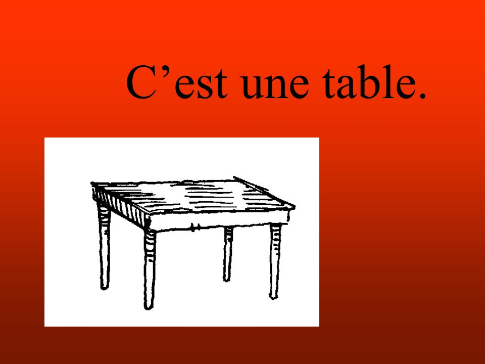Cest une table.