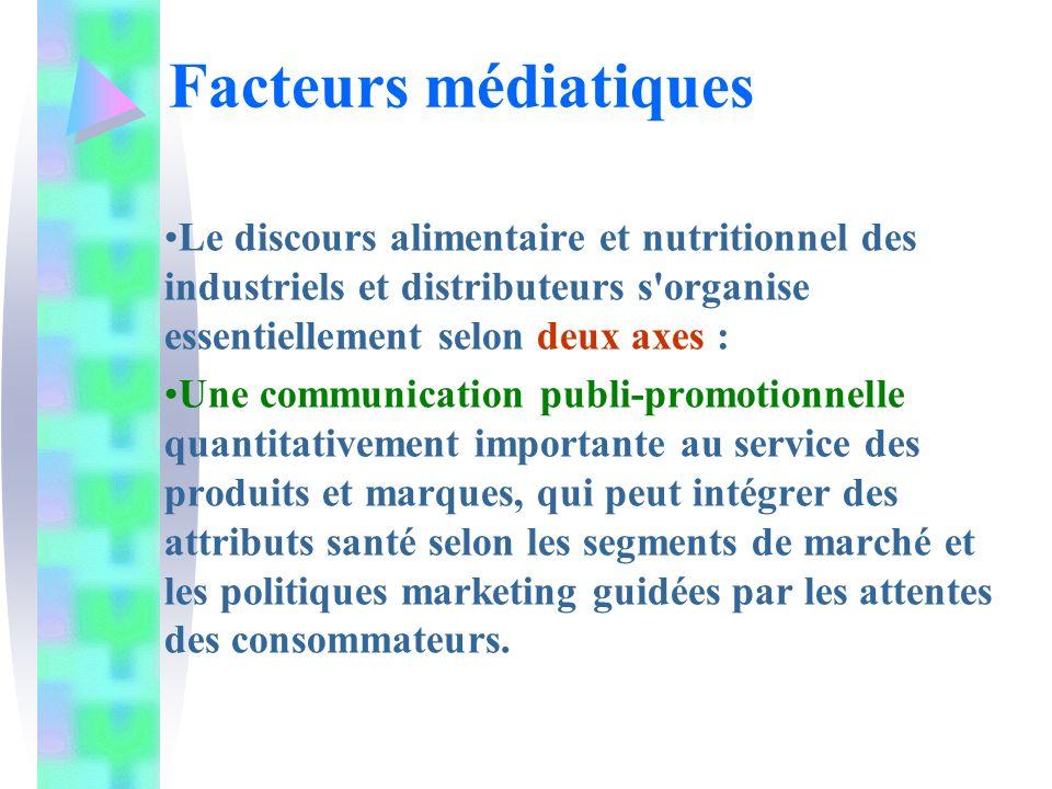 Le discours alimentaire et nutritionnel des industriels et distributeurs s'organise essentiellement selon deux axes : Une communication publi-promotio