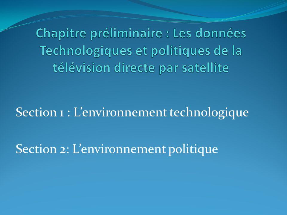 Section 1 : Lenvironnement technologique Section 2: Lenvironnement politique