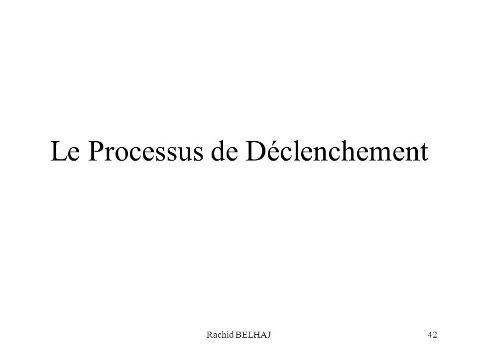 Rachid BELHAJ42 Le Processus de Déclenchement