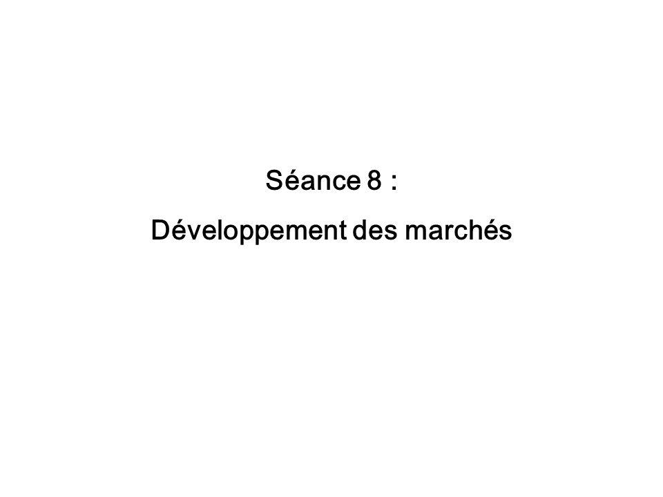 Séance 8 : Développement des marchés