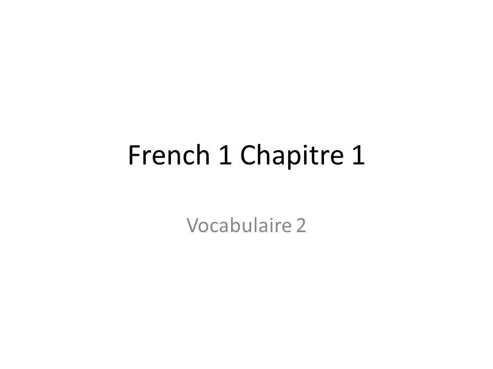 Répétez, sil vous plaît? – Could you please repeat that?