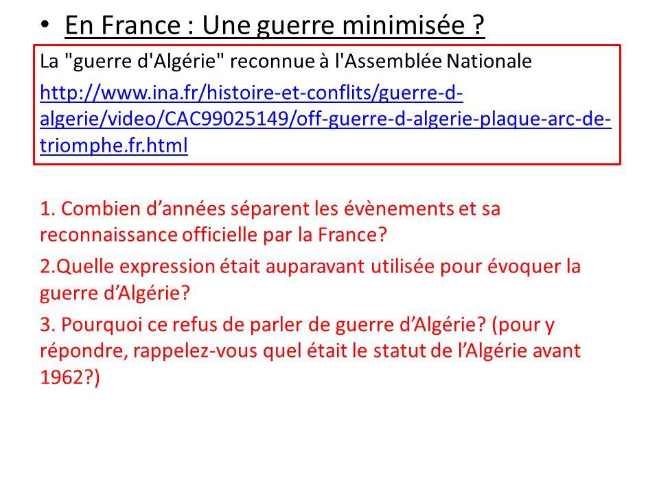 En France : Une guerre minimisée ? La