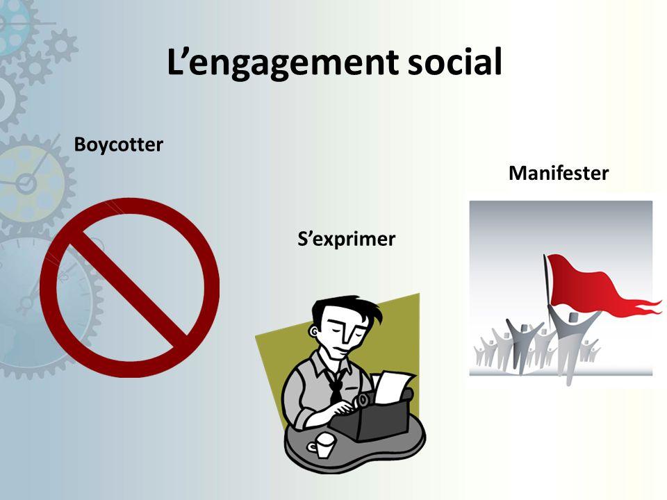 Lengagement social Boycotter Sexprimer Manifester