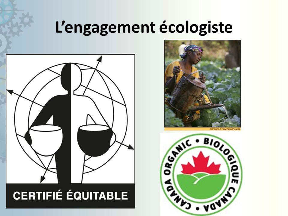Lengagement écologiste