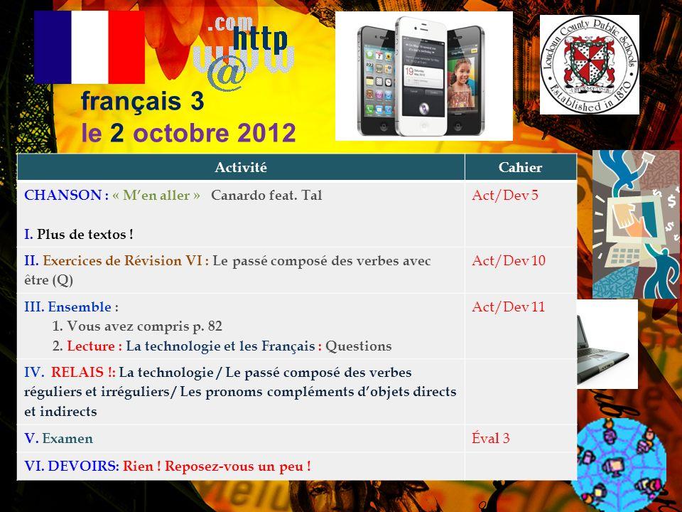 français 3 Le technologie et les Français Daccord 2 p.