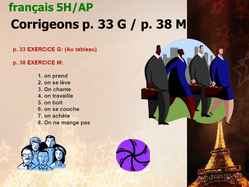 français 5H/AP le 1-2 octobre 2012 ActivitéCahier CHANTONS .