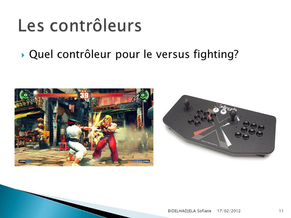 Quel contrôleur pour le versus fighting? 17/02/2012 BIDELHADJELA Sofiane11