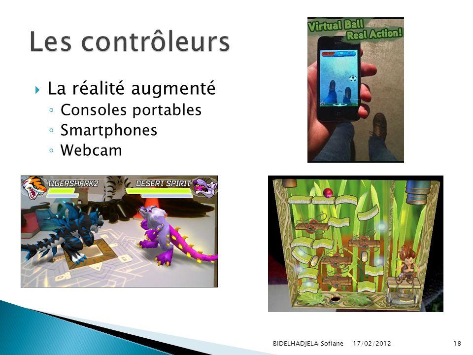 17/02/2012 BIDELHADJELA Sofiane18 La réalité augmenté Consoles portables Smartphones Webcam