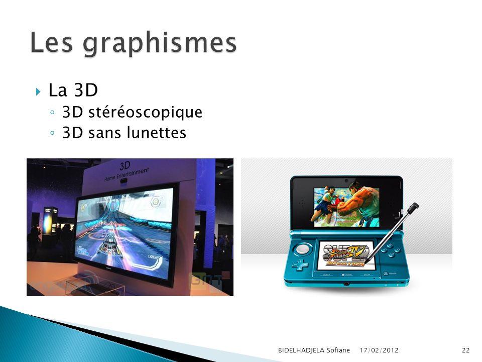 17/02/2012 BIDELHADJELA Sofiane22 La 3D 3D stéréoscopique 3D sans lunettes