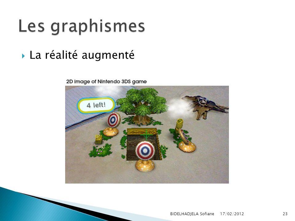 17/02/2012 BIDELHADJELA Sofiane23 La réalité augmenté