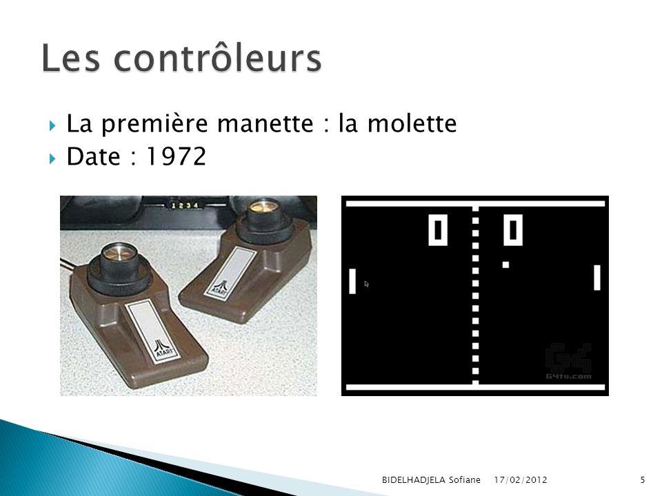 La première manette : la molette Date : 1972 17/02/2012 BIDELHADJELA Sofiane5