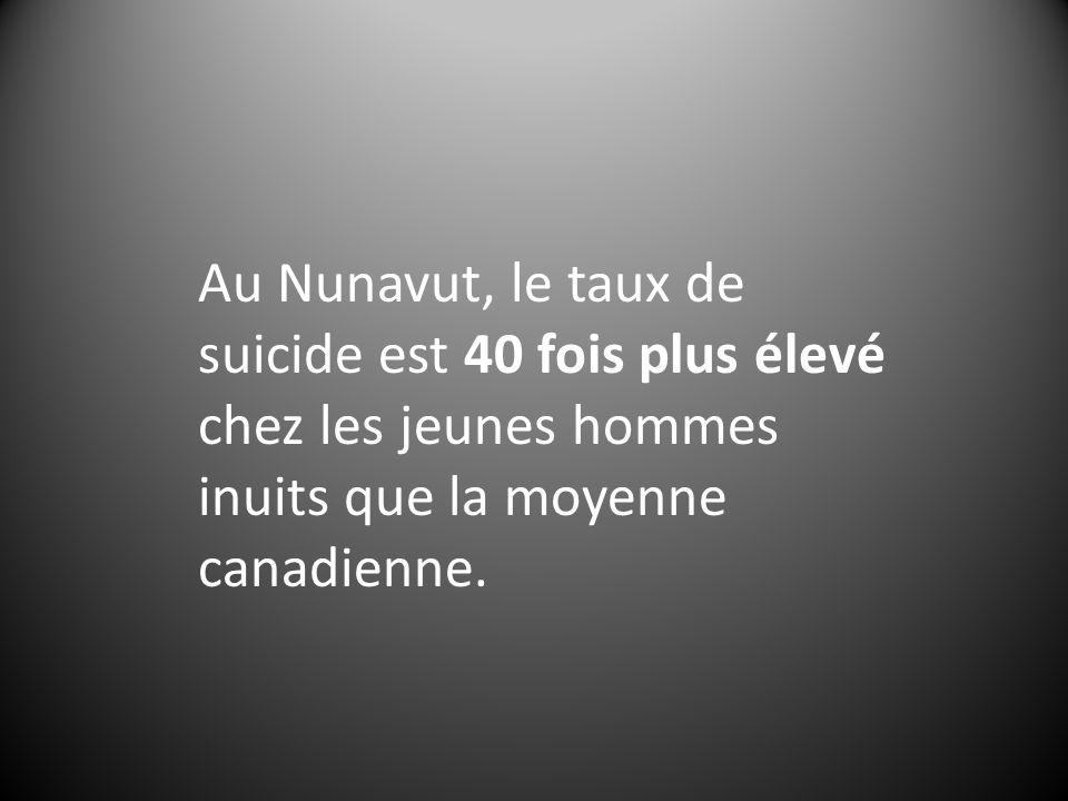 Au Nunavut, le taux de suicide est 40 fois plus élevé chez les jeunes hommes inuits que la moyenne canadienne.