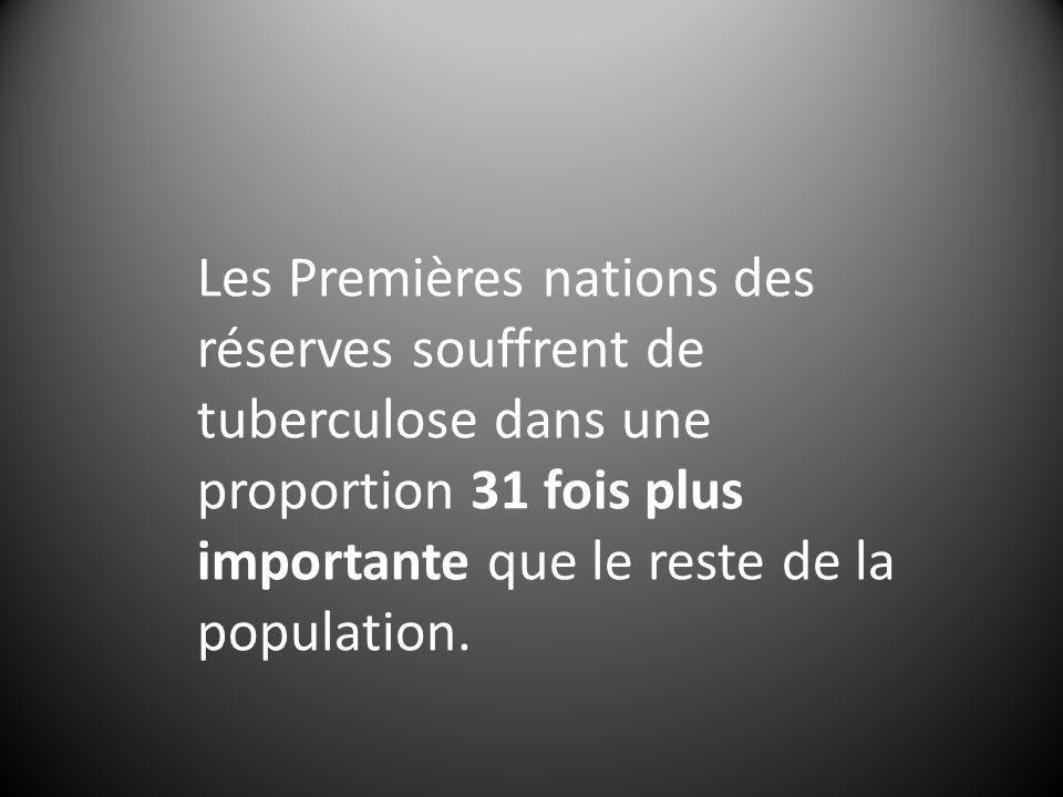 Les Premières nations des réserves souffrent de tuberculose dans une proportion 31 fois plus importante que le reste de la population.