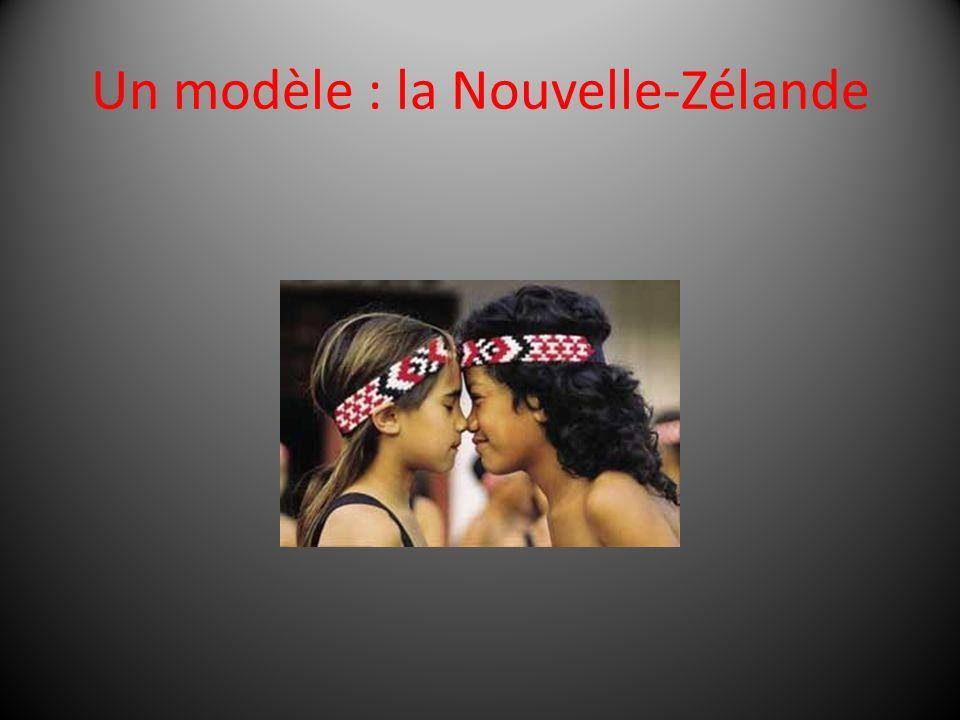 Un modèle : la Nouvelle-Zélande